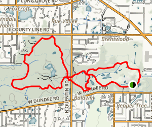 Deer Grove Forest Preserve Trails Map