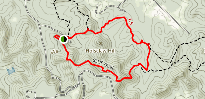 Blue Trail, Jefferson County Memorial Forest Map