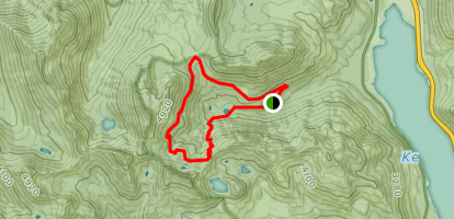 Tinkham Peak / Silver Peak Loop Map