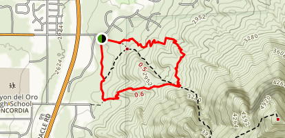 Linda Vista Loop Trail Map