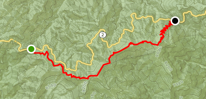 Mt. Baden-Powell from Islip Saddle Map