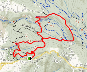 Fickle Hill Grade #9, Big Rock Trail #4 and Meadow Trail #3 Loop  Map
