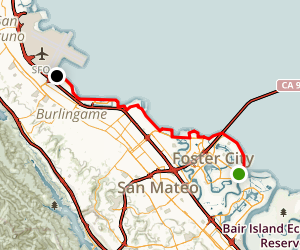 Foster City and San Mateo Bikeways Map