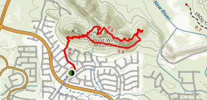 West Wing Mountain Advanced Trail Map