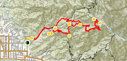 Haines Canyon to Mount Lukens Trail Map