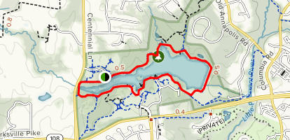 Centennial Lake Loop Map
