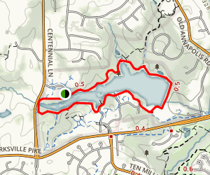 Centennial Park Trails Map