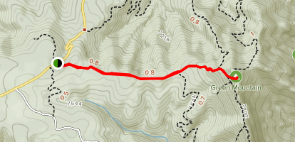 Green Mountain West Trail Map