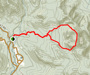 Mount Tripyramid Loop Trail Map