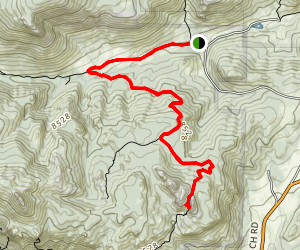Cow Creek to Gem Lake Map