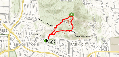 Twin Peaks Trail Map