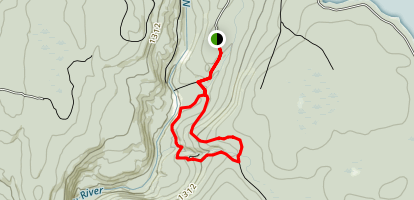 Mullet Loop Blue Trail East Map