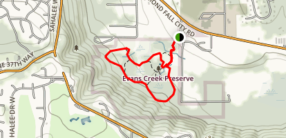 Evans Creek Preserve Trail Map