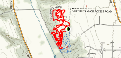 Vulture's Knob Map