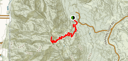 Mount Ogden Trail (via Snowbasin Gondola) Map