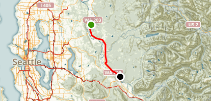 Snoqualmie Valley Trail and Snoqualmie Valley Trail Extension Map