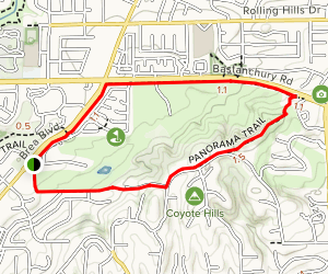 Fullerton East Coyote Hills Trail Map