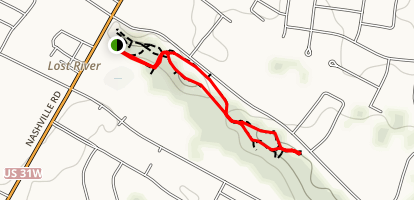 Lost River Cave and Valley Trail Map