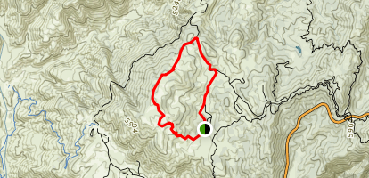 Mt. Hillyer Trail from Horse Flats Campground Map