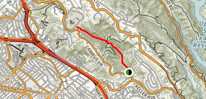 Leona Canyon Trail Map
