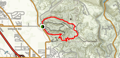 Creekside Trail to Big Leaf Trail Loop Map
