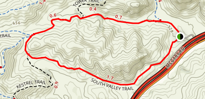Middle Valley and South Valley Trail Map