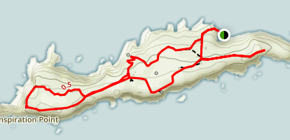 East Anacapa Island Trail Map