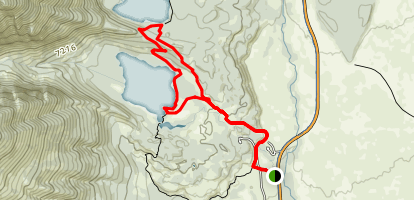 Bradley Lake Trail Map