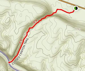 Closed Canyon Trail Map