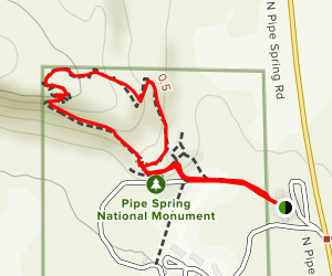 Pipe Spring National Monument Map