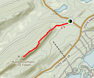 Bald Mountain (Rondaxe Fire Tower) Map