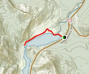 Barrier Lake Trail Map