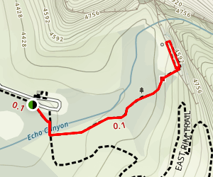 Weeping Rock Trail Map