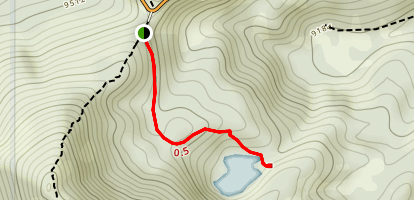 Bloods Lake Trail [PRIVATE PROPERTY] Map