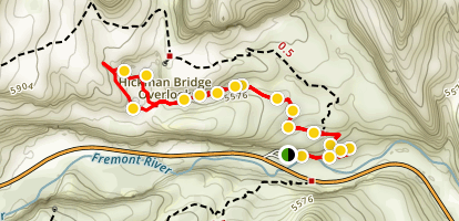 Hickman Bridge Trail Map
