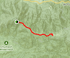 Vincent Tumamait Trail to Mount Pinos Map