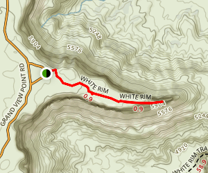 White Rim Overlook Trail Map