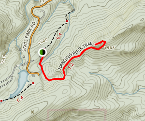 Hanging Rock Trail Map