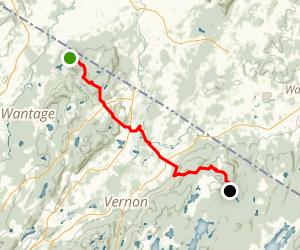 Vernon Valley via Appalachian Trail Map