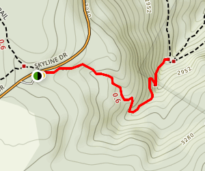 Dark Hollow Falls Trail Map