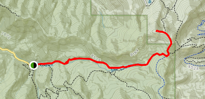Murdock Peak via Old Red Pine Road Map