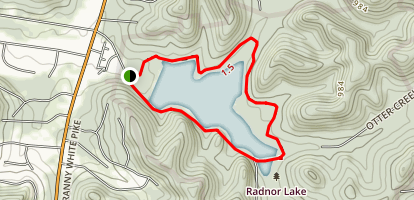 Radnor Lake South Lake Trail Map
