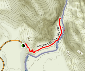 Boquillas Canyon Trail Map