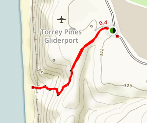 Gliderport to Black's Beach Map
