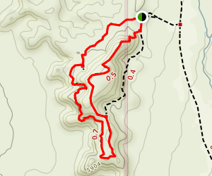 Shakespeare Arch/Sentinel Trail Map