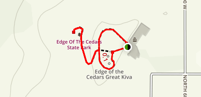 Edge of the Cedars Indian Ruin Trail Map