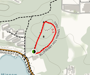 Blueberry Hill Walking Loop Map