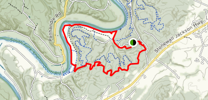 Bear Bottom and River Trail Loop Map
