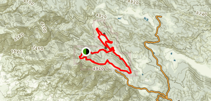 Boucher Trail and Palomar Mountain Loop Map