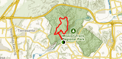 South Fortuna Trail and Fortuna Saddle Trail Loop Map